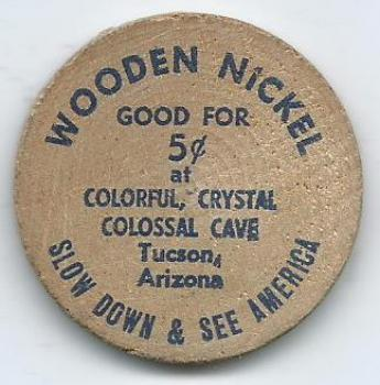Wooden Nickel Good For 5 At Colorful Crystal Colossal